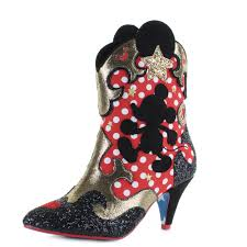 Mickey Mouse Flip Open Sofa Uk by Womens Irregular Choice Diggety Dog Mickey Mouse Western Red
