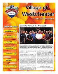 West Chester Halloween Parade Route by October 2015 Village Of Westchester Newsletter By Village Of