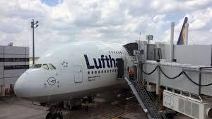 Lufthansa Airbus A380 800 taking off Houston George Bush
