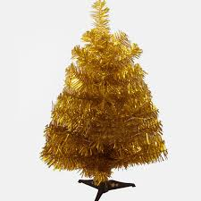 60cm Artificial Christmas Tree Small In Gold Color For Decoration Beauty Supplies With