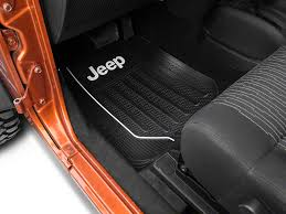 Alterum Wrangler Jeep Logo Elite Front Floor Mats J 87 18