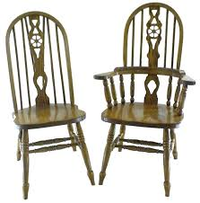 Press Back Chairs Oak by Bowback Kitchen Chairs Countryside Amish Furniture