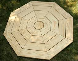 exteriors table hexagon timber picnic table tech deck picnic