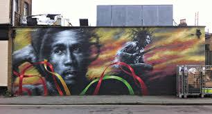Joe Strummer Mural The Division by History Is Made At Night Re Appreciating Bob Marley After Marlon