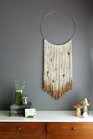 Gold Dipped Yarn Hanging