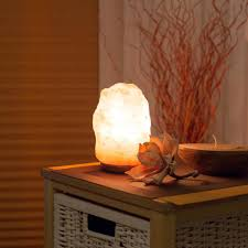 salzkristall le salzstein le mit leuchtmittel höhe ca 15 20cm 1 5 3kg