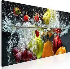decomonkey bilder küche 120x40 cm 1 teilig leinwandbilder bild auf leinwand vlies wandbild kunstdruck wanddeko wand wohnzimmer wanddekoration deko