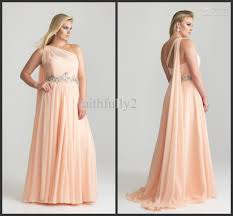 plus size one shoulder bridesmaid prom gown formal evening wedding