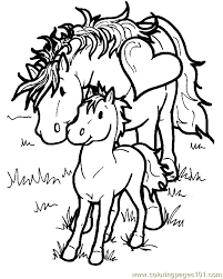 Horse Coloring Page 01