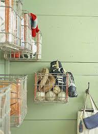 Wire Baskets On Pegboard Flea Market Storage Ideas