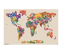 World Map Color Poster Shopping For College Buy Cool Dorm Stuff