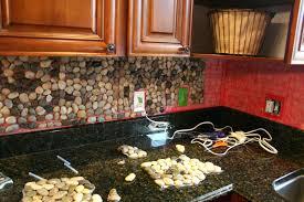 tin tile backsplash lowes kitchen rock mosaic tile rock mosaic
