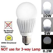 ismartled 3 switchable lighting levels led bulb of 10 5 0 2w no