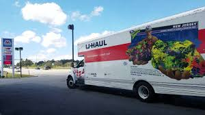 New U-Haul 26 Foot Moving Truck At Gas Station In Hendersonville NC ...