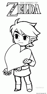 Logo Zelda Coloring Pages Print Download 308 Prints