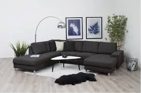 cdiscount canape d angle nessie canapé d angle fixe à gauche 4 places tissu anthracite
