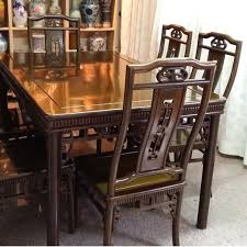 Antique Dining Table (Mahogany Wood) With 6 Chairs ...