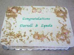 Rustic Wedding Sheet Cake