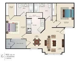 C Floor Plans by 2 Bedroom 2 Bath Plan C Floor Plan 820 Rent 250 Deposit