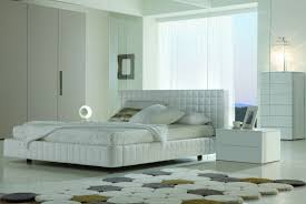 White Bedroom With Rug