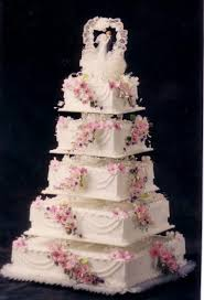 Cake Decorating Books For Beginners by Cake Decorating Ideas 5 Tier White Square Wedding Cake With Pink