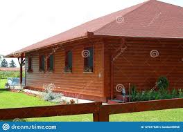 100 Modern Summer House Reddish Wooden At The Lakes Shore In Europ