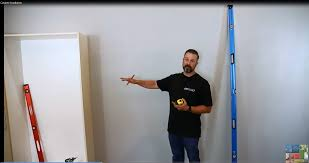 garage storage cabinet installation to a wall how to video youtube