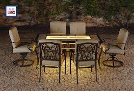Patio Furniture Sets Sears by La Z Boy Outdoor Halley 7pc Dining Set With Lighted Table Limited