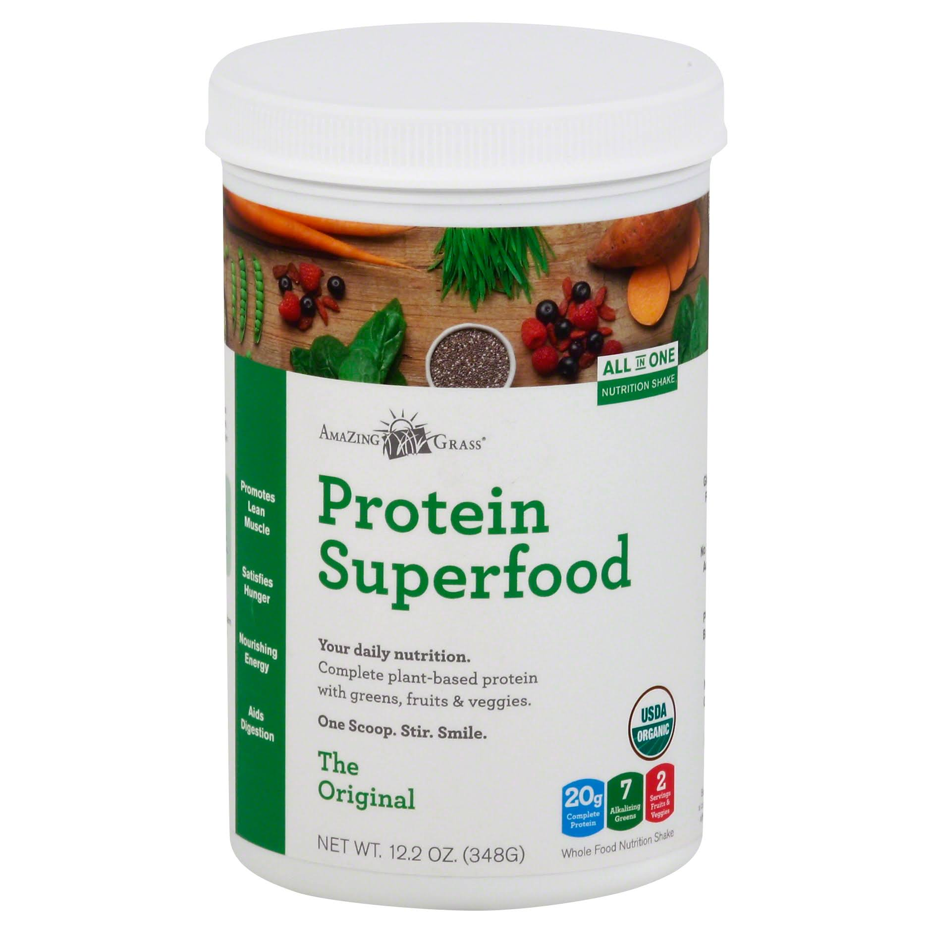 Amazing Grass Protein SuperFood Supplement - The Original, 12.2oz, 12 Servings