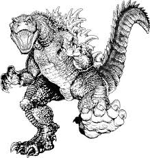 Godzilla Coloring Pages Monster
