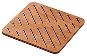 lineabeta duschvorlage duschmatte aus teakholz holz 60x60cm
