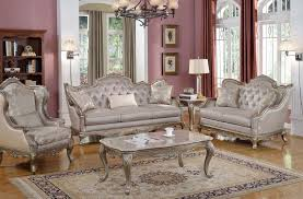 Elegant Traditional Antique Style Sofa & LoveSeat Formal Living