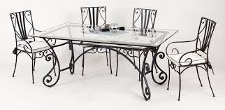 table et chaises fer forgé marylene salle à manger en fer forgé