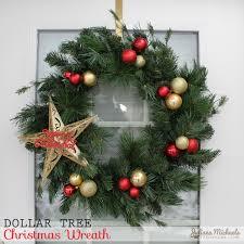 Dollar Tree Christmas Wreath And Garland