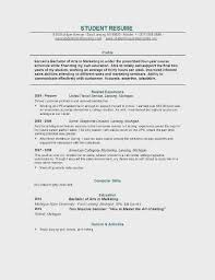 Sample College Resume Example For Student Gallery Of Top Template Your Inspiration In Relaxing