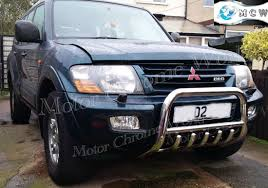 100 Push Bars For Trucks MITSUBISHI SHOGUN PAJERO BULL BAR CHROME AXLE NUDGE ABAR 60mm