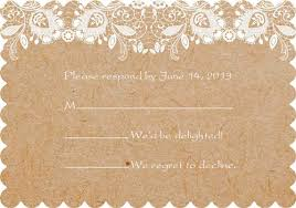 Chic Rustic Lace Scallop Response Cards EWIs270 R