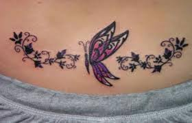 Women Dolphin Butterfly Tattoo Stencils