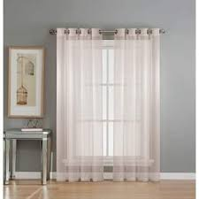 Crushed Voile Curtains Grommet by Grommet Sheer Curtains For Less Overstock Com