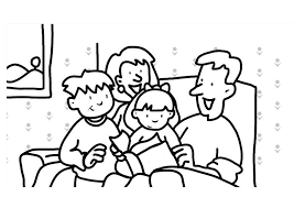 Lovely Coloring Pages Of Families 64 For Print With