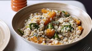 Pumpkin Risotto Recipe Easy by Spelt Risotto With Butternut Pumpkin Spinach Chestnuts And