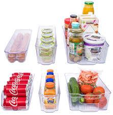 100 Storage Containers For The Home Amazoncom Adorn 6 Piece RefrigeratorFreezer Organizer Bins
