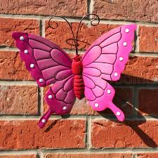 Butterfly Outdoor Wall Decor Awesome Large Pink Metal Butterflies Art