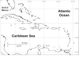 Caribbean Blank Map