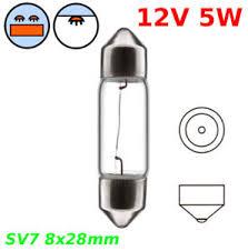 12v 5w sv7 8 x 28mm festoon bulb car interior light dashboard