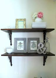 DIY Dining Room Wall Shelves