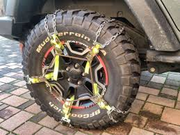 100 Truck Tire Chains Jeep Wrangler Emergency Snow Chains Jeeps Such Pinterest