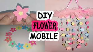 DIY Papar Flower Mobile