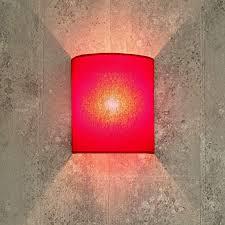 stoff wandleuchte rot halbrund loft design e27