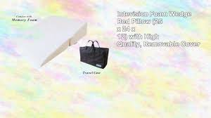 intevision foam wedge bed pillow youtube
